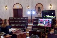 przygotowanie sali Sejmiku Województwa Śląskiego do konferencji